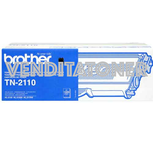 Toner Originale Brother TN-2110 Colore Nero 1500 Pagine