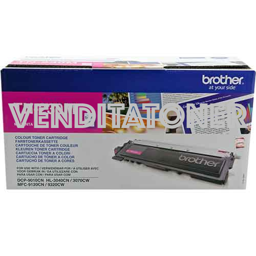 Toner Originale Brother TN-230M Colore Magenta 1400 Pagine