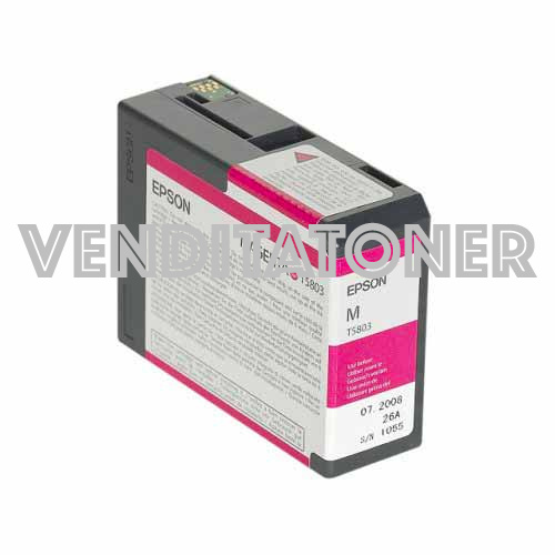 Tanica Originale Epson C13T580300 (T5803) Colore Magenta 80ml (T5803)