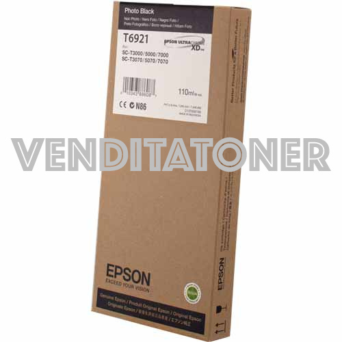 Tanica Originale Epson C13T692100 (T6921) Colore Nero Foto 110ml