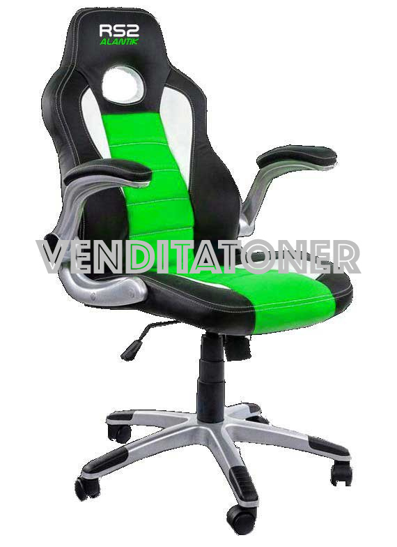Sedia Gaming Atlantik RS2GRN Colore Nero-Verde